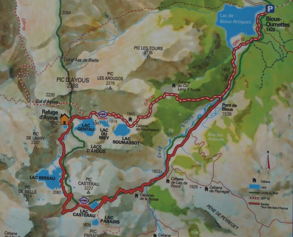 Plano del Tour de Lacs de Ayous