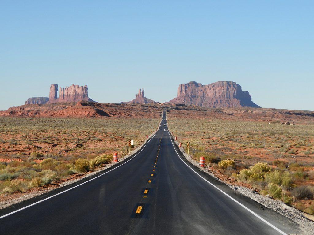 Forrest Gump Road en Monument Valley
