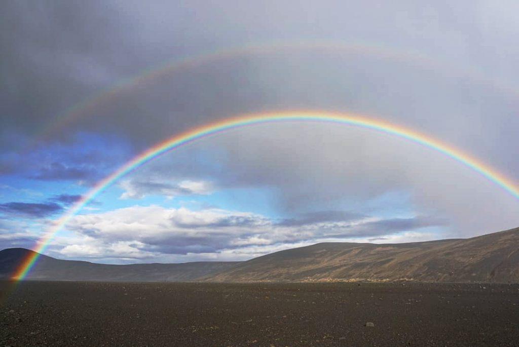 Arco iris en las tierras altas