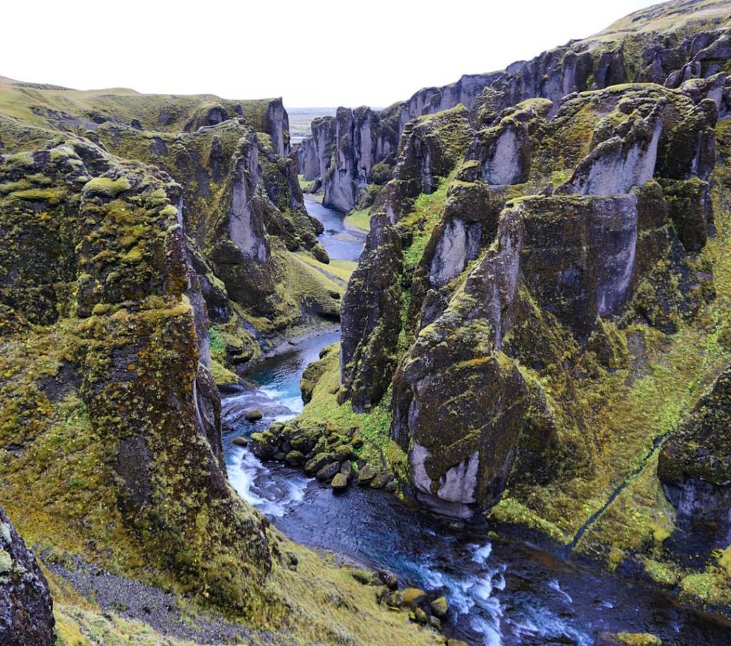 Cañón de Fjaðrárgljúfur
