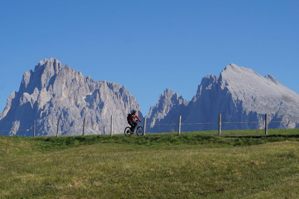 Ciclismo Alpe de Siusi, Dolomitas
