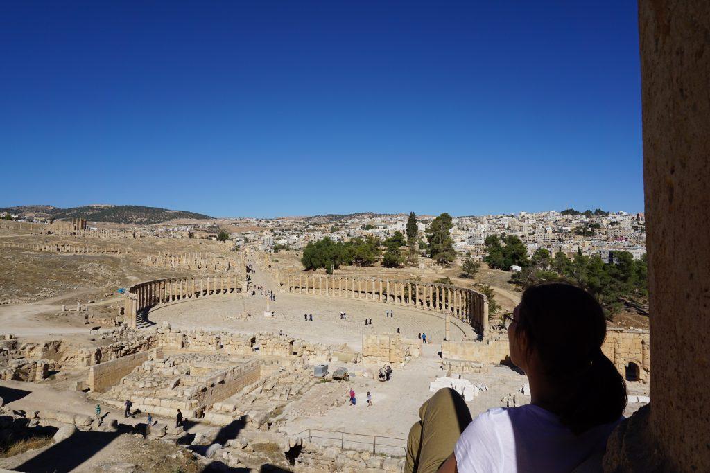 La ciudad romana de Jerash