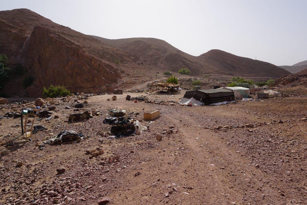Campamento beduino en Feynan, Reserva de Dana