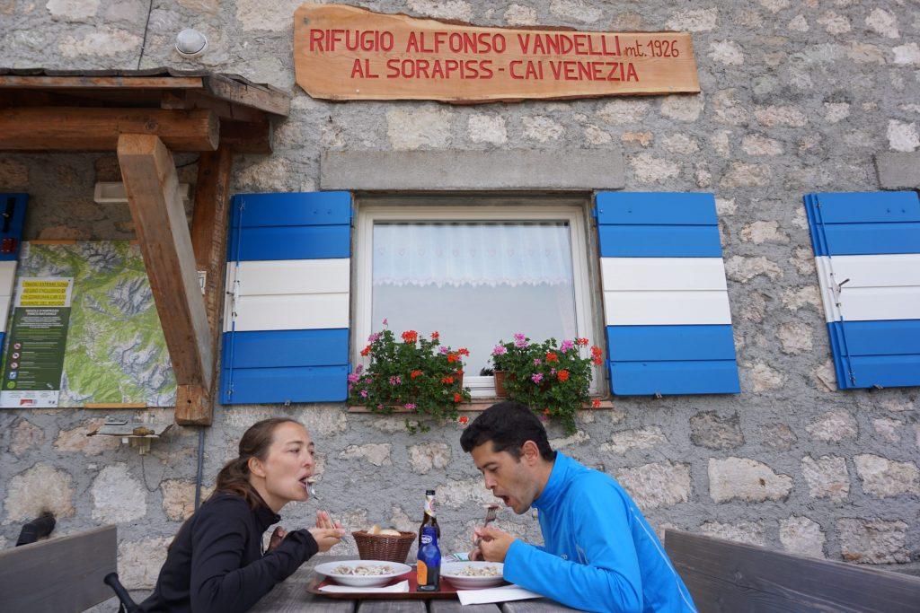Rifugio Vandelli, Dolomitas