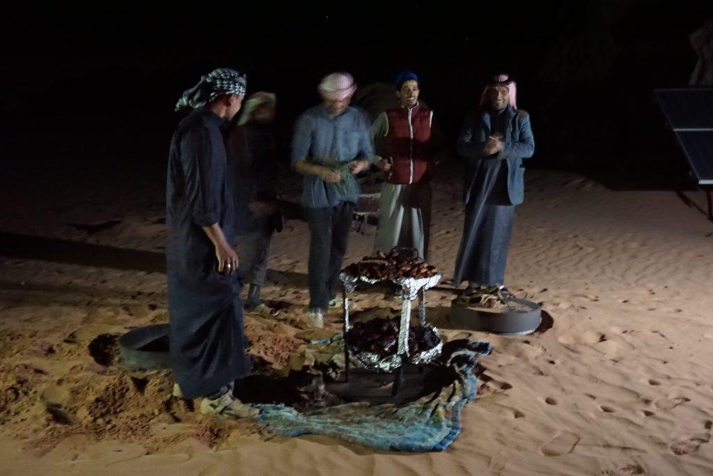 Zarb en el desierto de Wadi Rum
