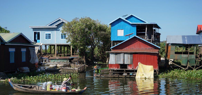Aldeas flotantes en el Tonle Sap, Camboya