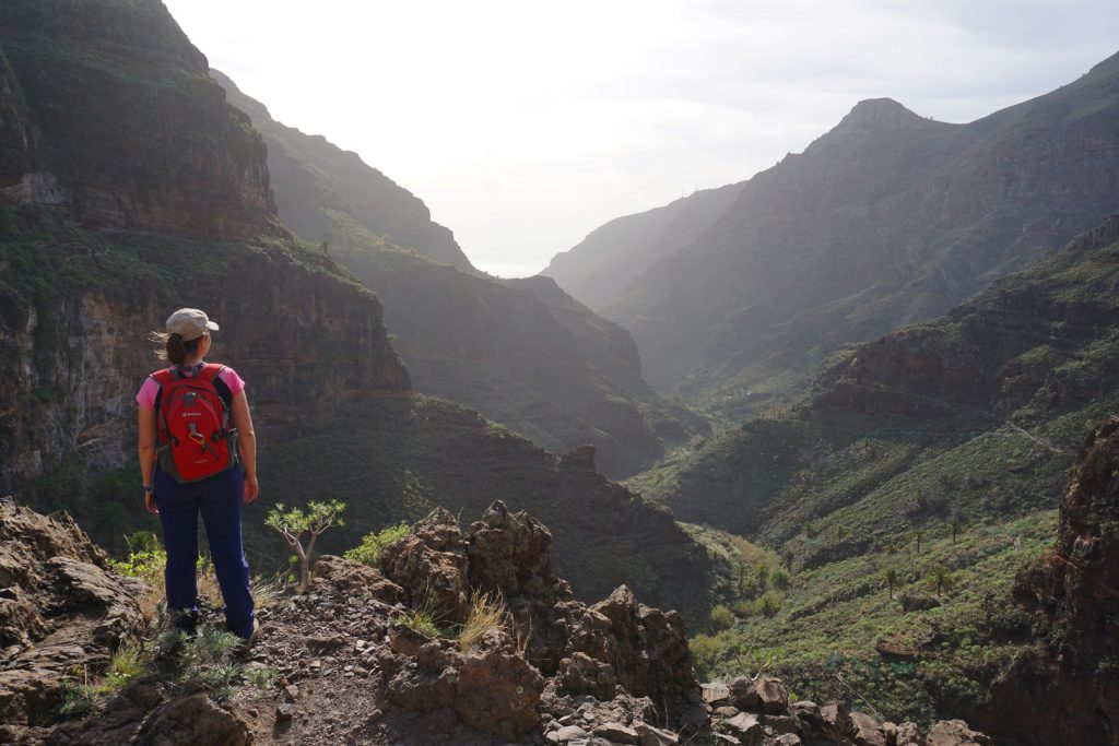 Barranco de Guarimiar, Sendero de los barrancos de Guarimiar y Benchijigua
