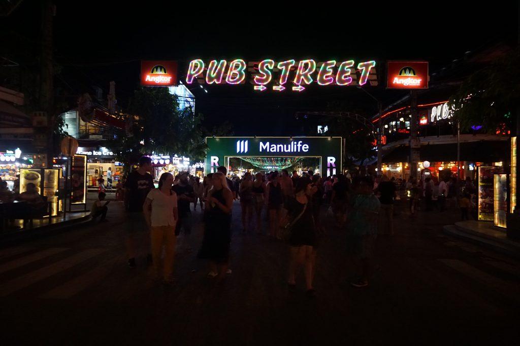 Pub Street en Siem Reap, Camboya