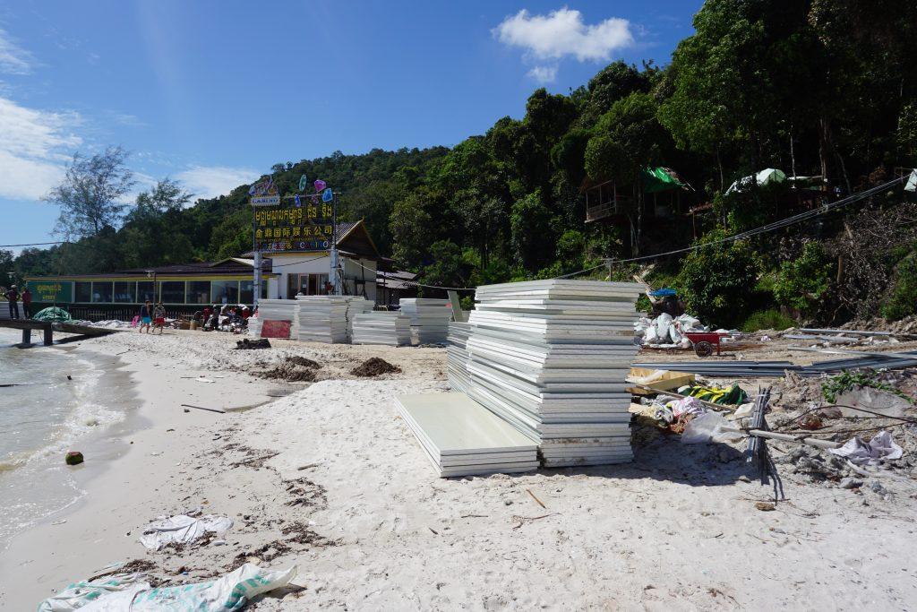 Obras en Koh Rong Samloem