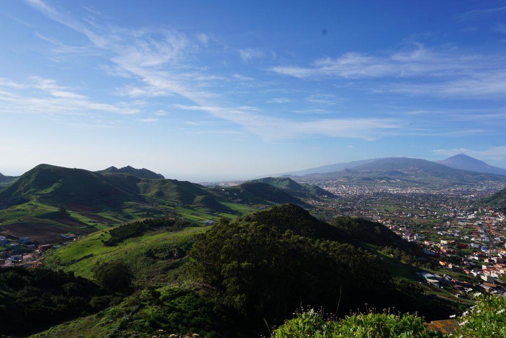 Mirador de la Jardina con vistas de la ciudad de La Laguna, Tenerife