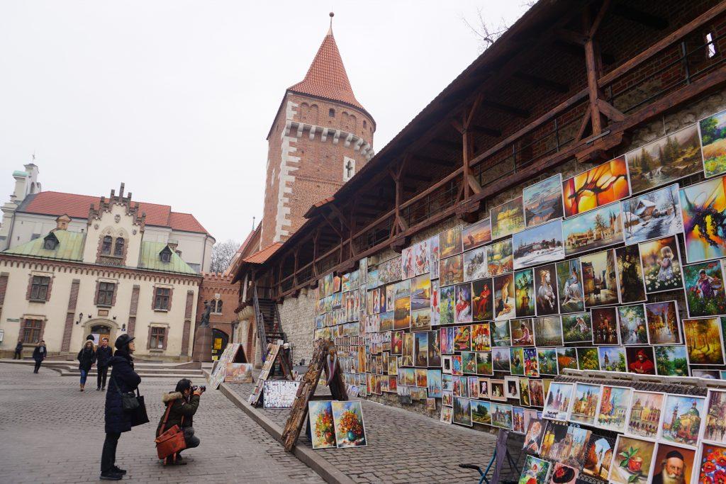 Arte junto a la Puerta de San Florián, Cracovia