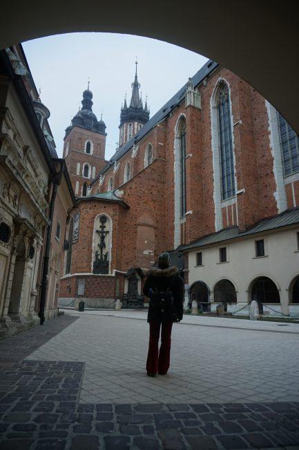 Traseras de la Basílica de Santa María, Cracovia