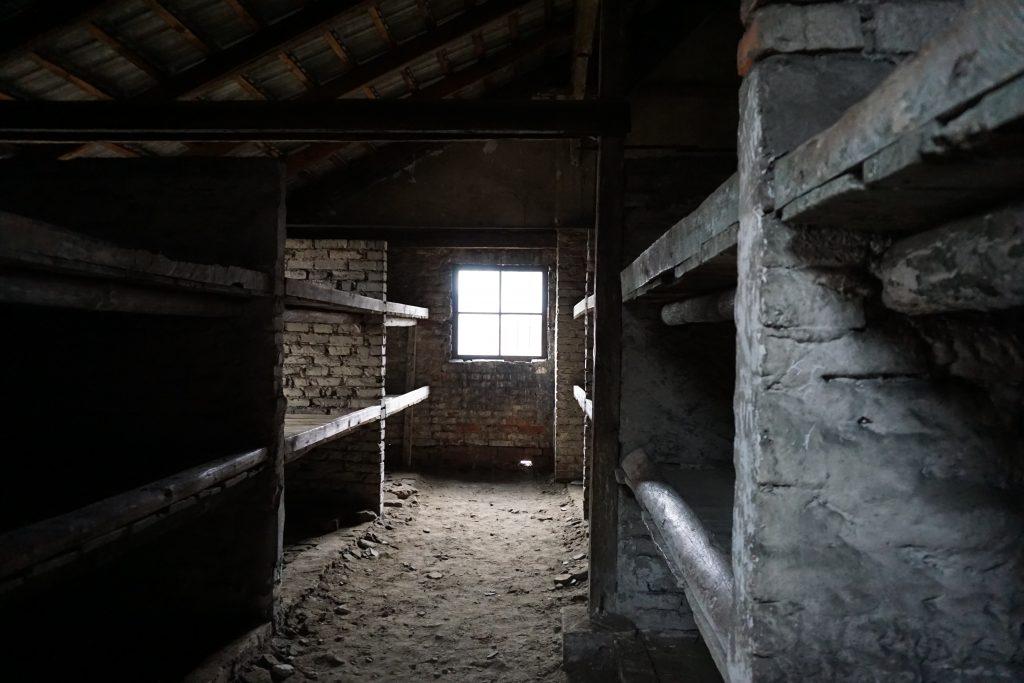 Pabellón para dormir del campo de exterminio Birkenau