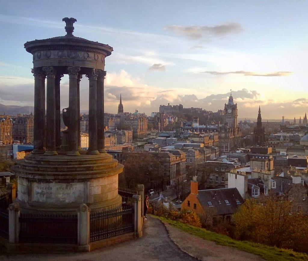 Escocia Calton Hill en Edimburgo