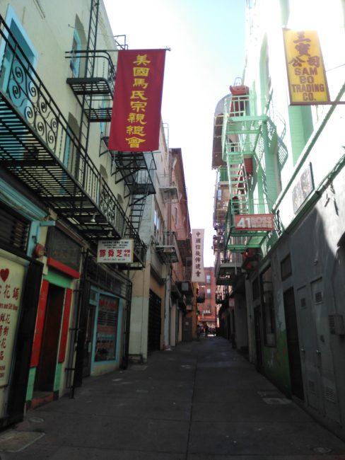Ross Alley St, Barrio Chino de San Francisco. Escenario de la película Indiana Jones y el Templo Maldito