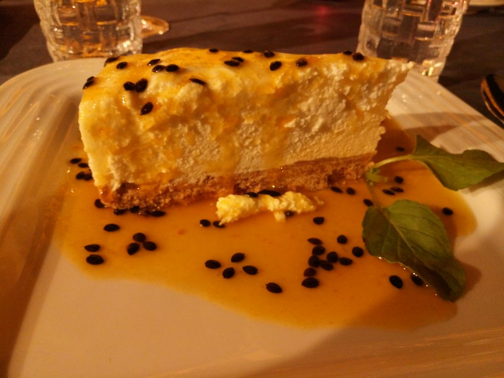 Tarta de queso y maracuyá en Madeira