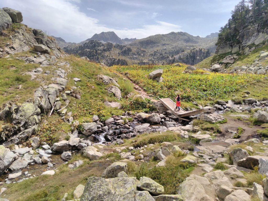 Pirineos, llegando al refugio de Colomers