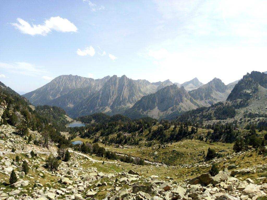 Pirineos, vistas desde el refugio de Amitges