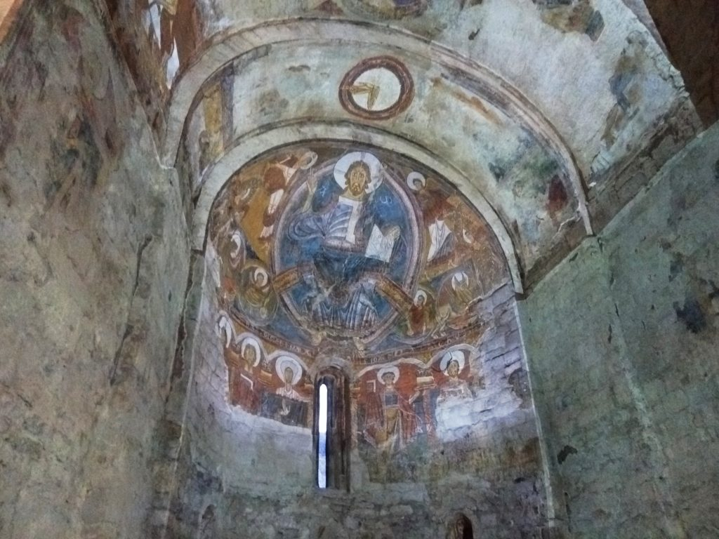 Fresco en Sant Climent de Taüll, Vall de Boí