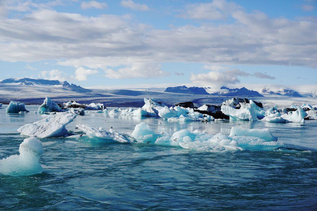 El surrealista lago glaciar Jökulsárlón