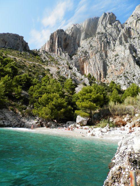 Playa Lučišća, isla de Hvar, Croacia