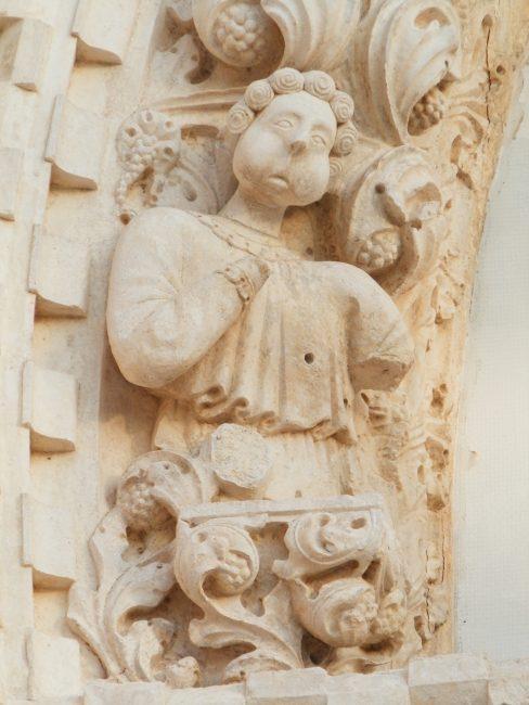 Escultura de la Catedral de Santiago en Sibenik, Croacia