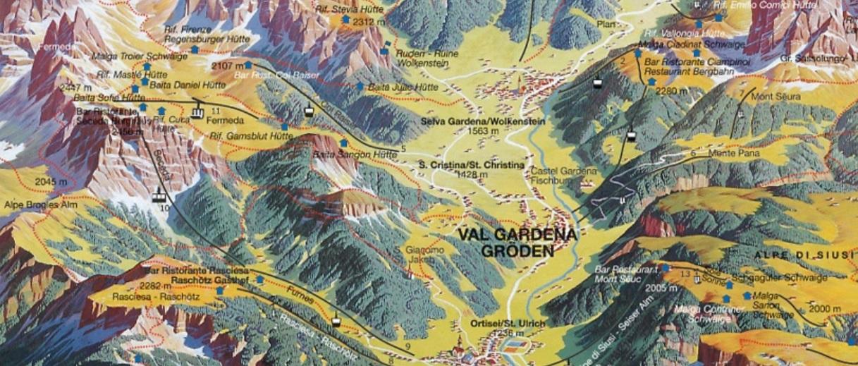 Mapa de Seceda