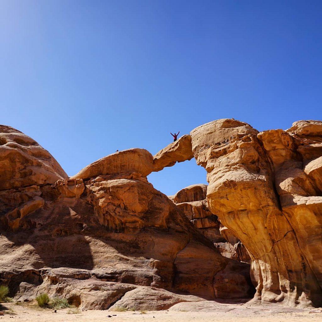 Arco de piedra Um Fruth, Desierto de Wadi Rum