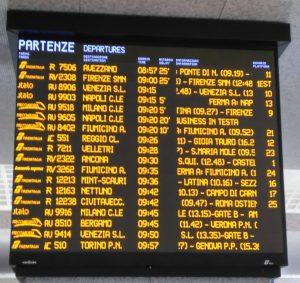 Retrasos trenes Italia
