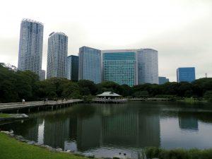 Japón Jardín Hamarikyu en Tokyo