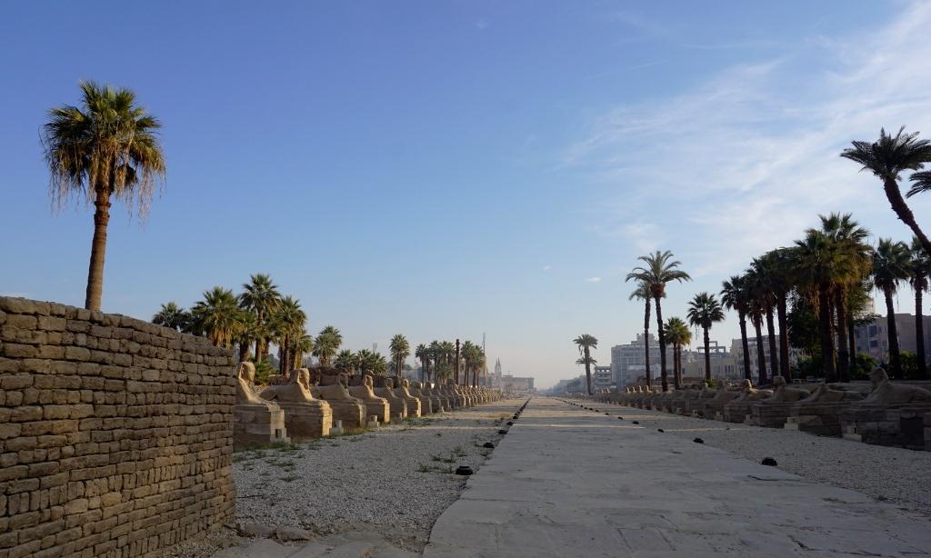 Avenida de las Esfinges, Lúxor, Egipto