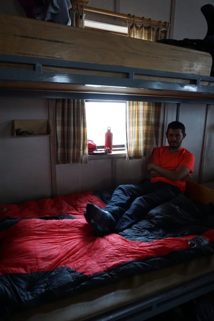 Descansando en el refugio