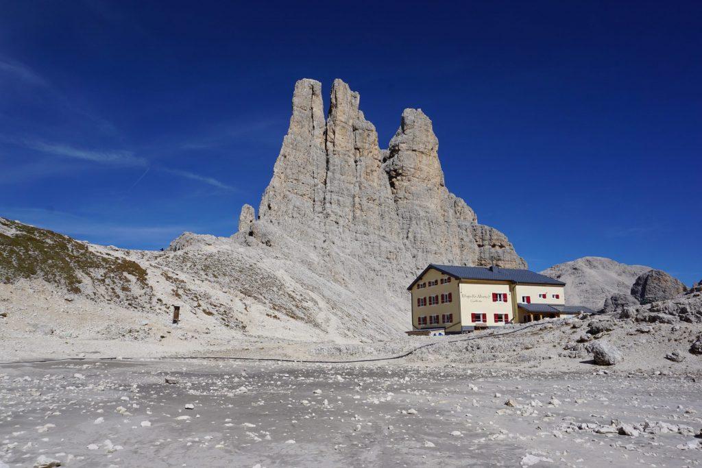 Vajolet Towers y Refugio Rey Alberto I