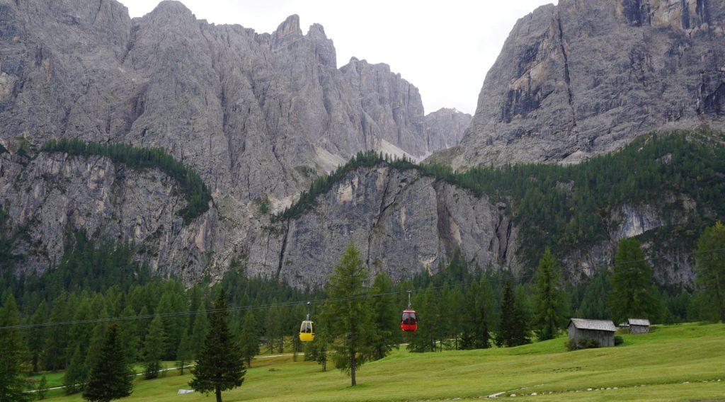 Telesférico, Dolomitas