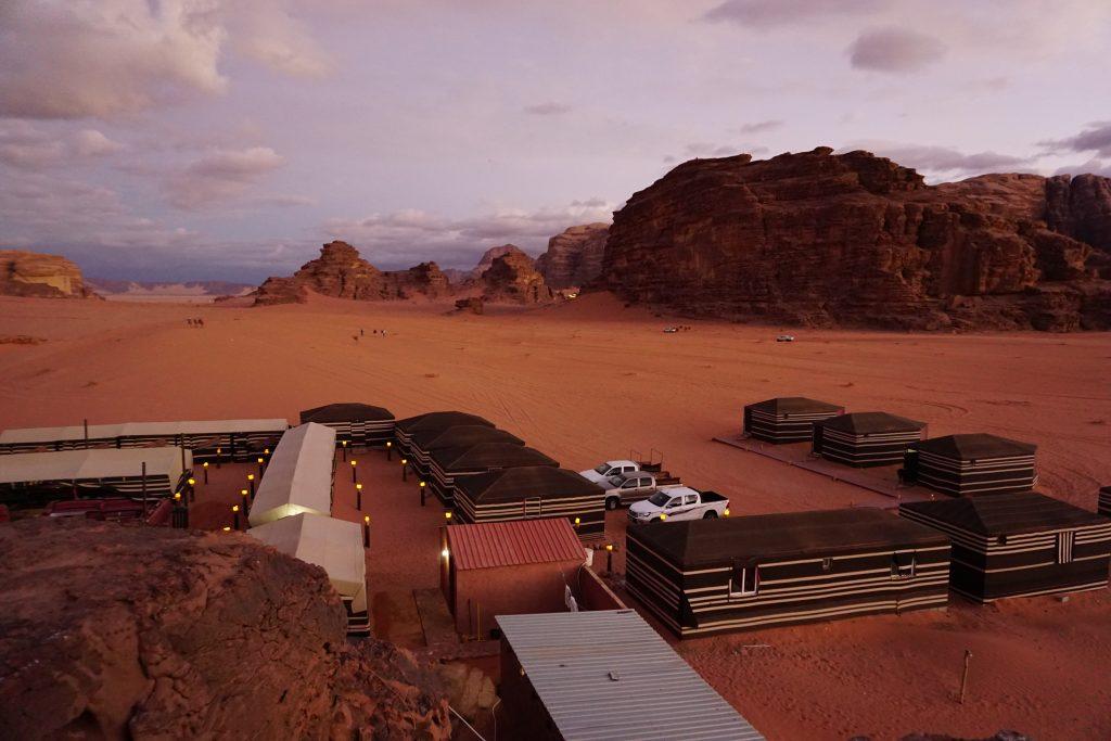 Campamento estilo beduino en Wadi Rum