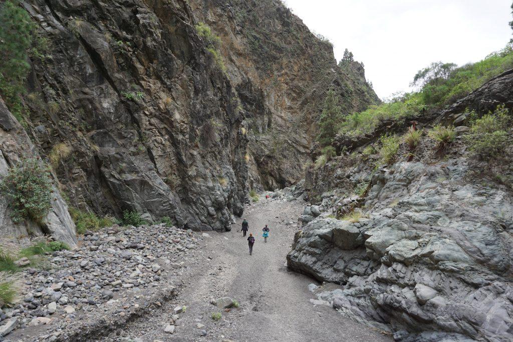 Barranco de las Angustias, Parque Nacional de la Caldera de Taburiente, Isla de La Palma