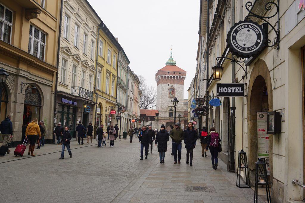 Calle Floriańska, Cracovia