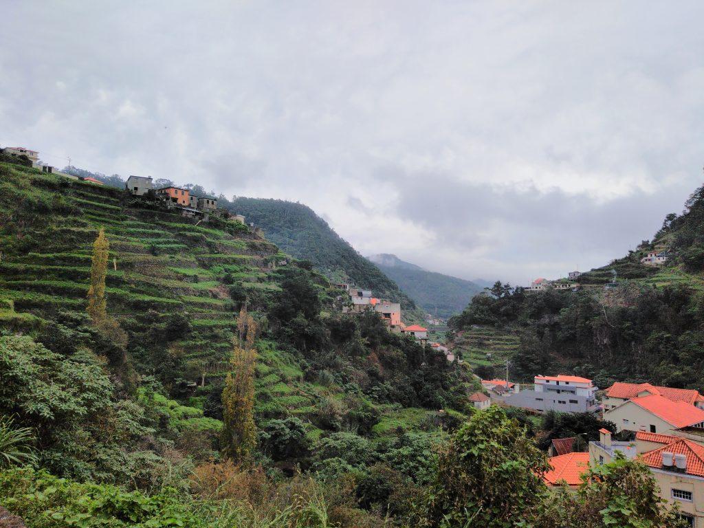 Bancales de Madeira en la Levada dos Marocos