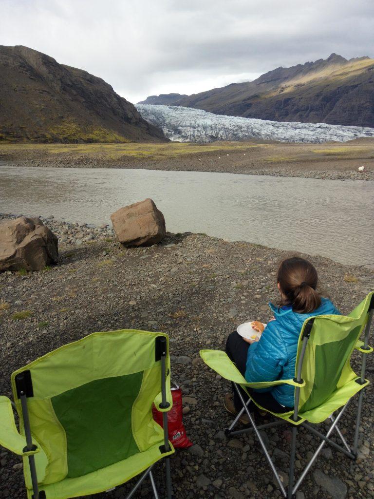 Vida de camper en el glaciar
