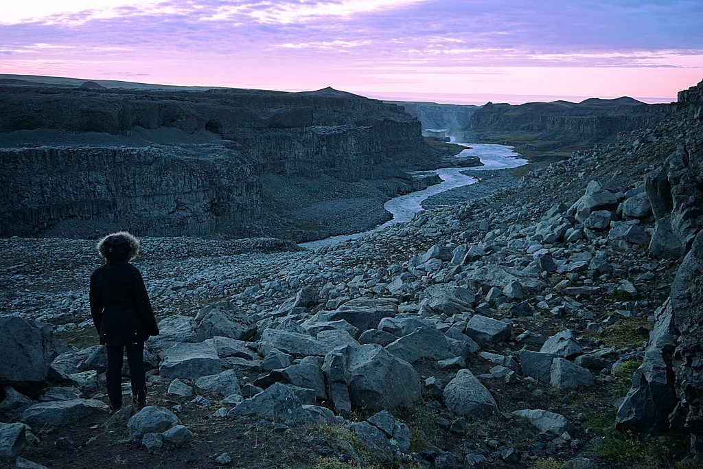 Atardecer mágico en el cañón del Jökulsá á Fjöllum