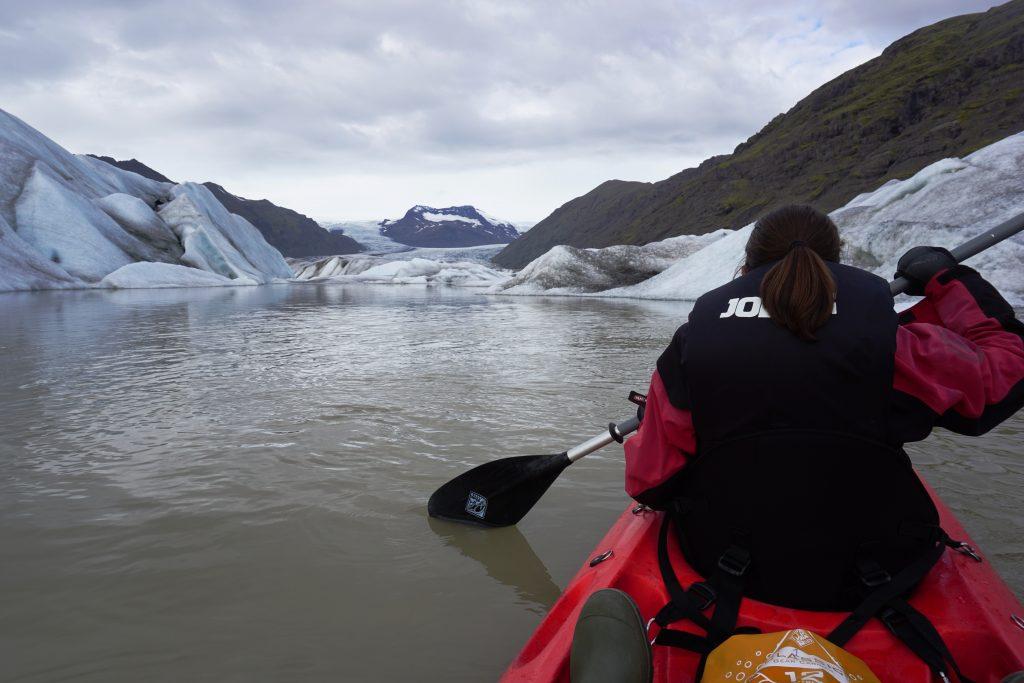 Kayak en Heinabergslón