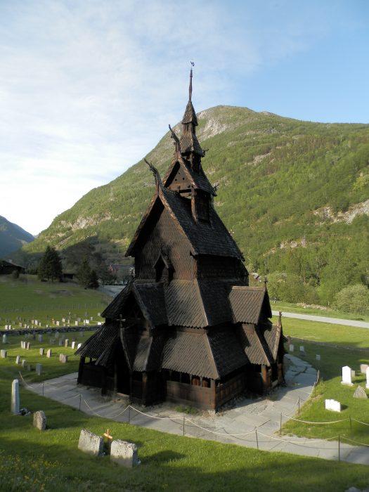 Noruega Fiordos Iglesia de Borgund