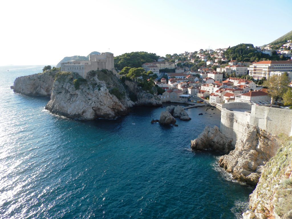 Vistas desde las murallas de Dubrovnik. Croacia