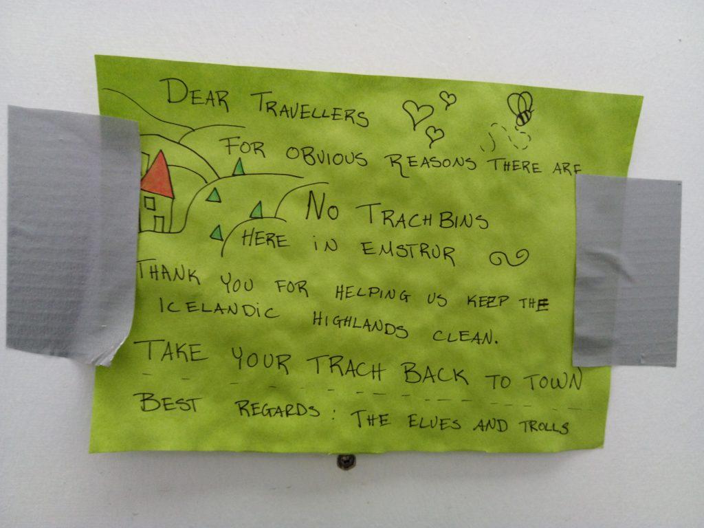 Nota de los elfos y los trolls en el refugio Emstrur
