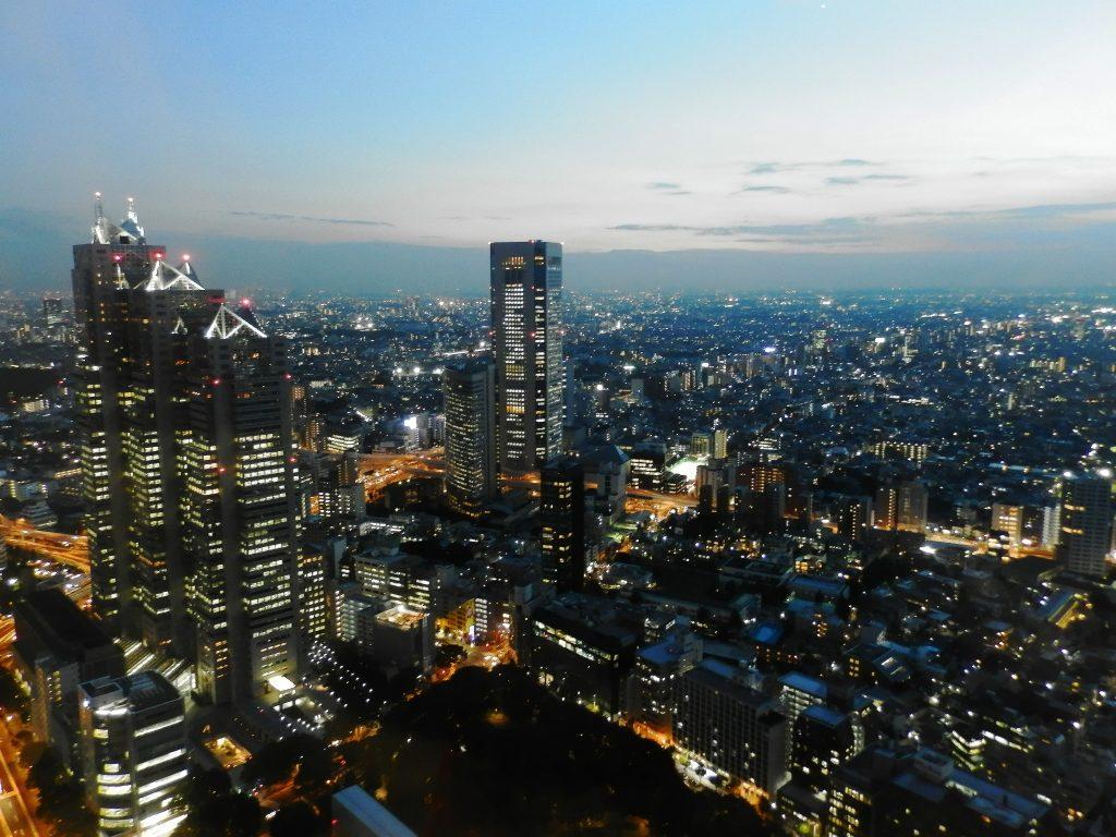Japón, Vistas desde el edificio del Gobierno Metropolitano de Tokyo