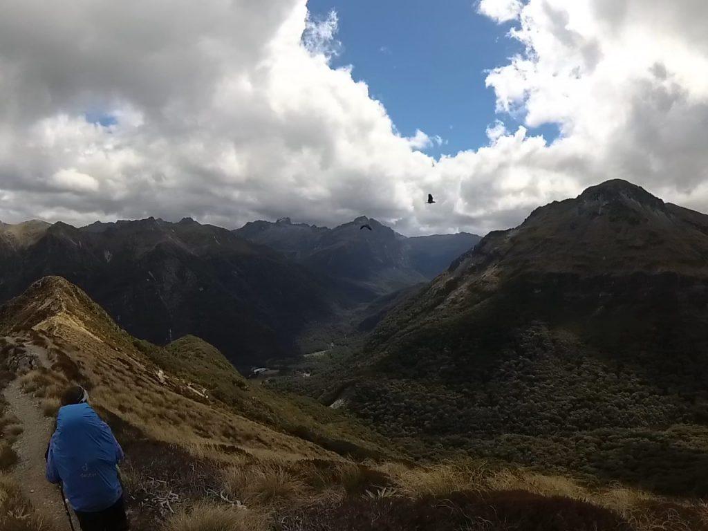 Cresteando bajo el vuelo de los keas en el Kepler Track